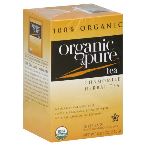 100 ORGANIC & PURE TEA HERBL CHAMOMILE ORG-18 BG -Pack of 6