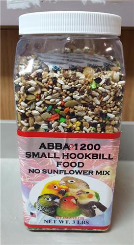 ABBA AB1200J 1200 Small Hookbill Seed 3 lbs Jar