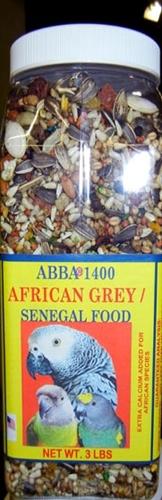 ABBA AB1400J 1400 African Grey Seed 3 lbs Jar