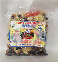ABBA AB28003 2800 Just Fruit 3 lbs Bag