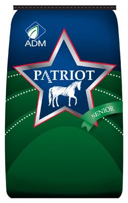 ADM Alliance Nutrition 80029AAA24 50 lbs. Patriot Senior Complete Horse Feed