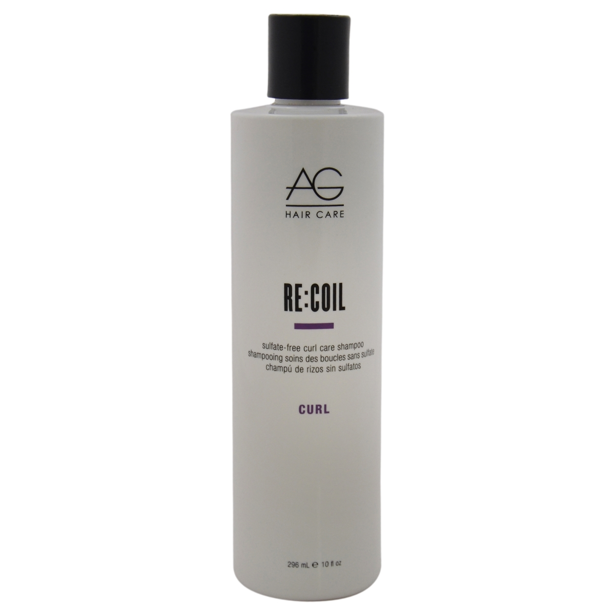 AG Hair Cosmetics U-HC-10738 Recoil Sulfate-Free Curl Care Shampoo for Unisex - 10 oz