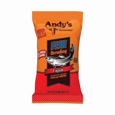 ANDYS BREADING FISH CAJUN-10 OZ -Pack of 6