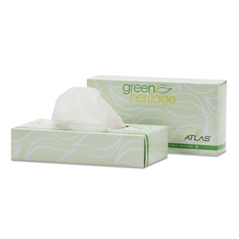 APM 030A 8.2 x 7.4 in. Green Heritage Facial Tissue White - 10 per Box Box of 30