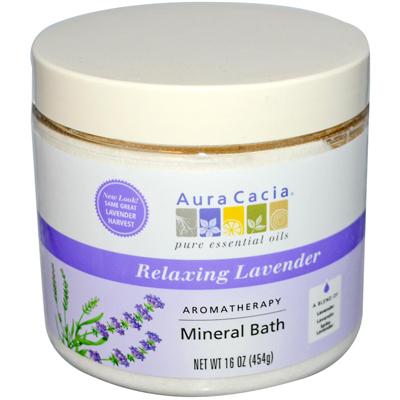 AURA(tm) Cacia 0611848 Aromatherapy Mineral Bath Lavender Harvest - 16 oz