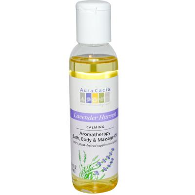 AURA(tm) Cacia 0611863 Aromatherapy Body Oil Lavender Harvest - 4 fl oz