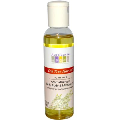 AURA(tm) Cacia Aromatherapy Bath Body and Massage Oil Tea Tree Harvest - 4 fl oz