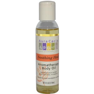 AURA(tm) Cacia Aromatherapy Body Oil Soothing Heat - 4 Fl Oz