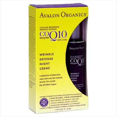 AVALON ORGANICS COQ10 WRK DEF CRM NIGHT-1.75 OZ -Pack of 1
