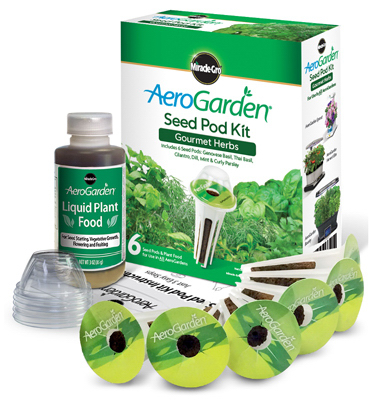 Aerogrow International 214556 6-Pod Gourmet Herbs Seed Pod Kit