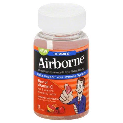 Airborne Immune Support Supplement With Vitamin C Chewable Gummies 21 Count