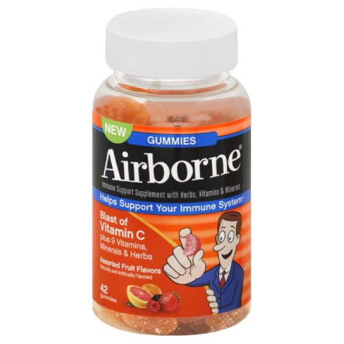 Airborne Immune Support Supplement With Vitamin C Chewable Gummies 42 Count