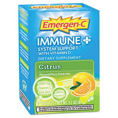 Alacer 100008 Immune Plus Formula 0.3 oz Citrus 10-Pack