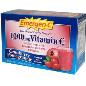 Alacer 40244 Emergen-C Cranberry Pomegranate