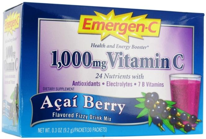 Alacer 44631 1x 30 PKT Emergen-C Acai Berry