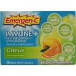 Alacer 760520 Alacer Emergen-C Immune Plus System Support with Vitamin D Citrus - 30 Packets