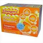 Alacer Emergen-C Vitamin C Fizzy Drink Mix Tangerine - 1000 Mg - 30 Packets