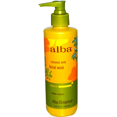 Alba Botanica 0389957 Alba Organics Hawaiian Facial Wash Coconut Milk - 8 fl oz