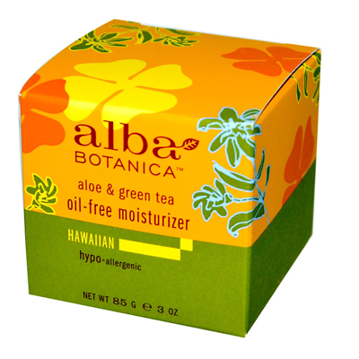 Alba Botanica 0390138 Hawaiian Aloe and Green Tea Moisturizer Oil-Free - 3 oz