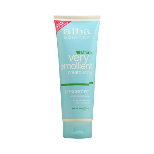 Alba Botanica 694026 Alba Botanica Very Emollient Natural Moisturizing Cream Shave Unscented - 8 fl oz