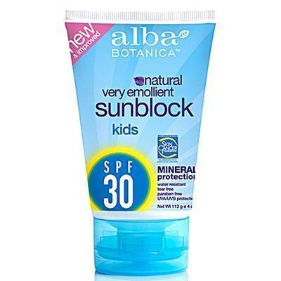 Alba Botanica AY44719 Alba Botanica Spf 30 Kids Mineral Sunscreen -1x4 Oz