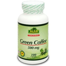 Alfa Vitamins GCf96260 Green Coffee Bean Extract 500mg 100 Capsules