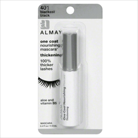 Almay One Coat Thickening Mascara Blackest Black 401 Pack Of 2