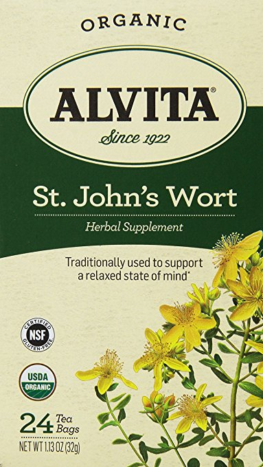 Alvita 1543701 Organic St. Johns Wort Herbal Tea Bags - 24 Tea Bags