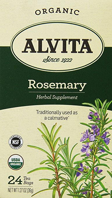 Alvita 1544360 Organic Rosemary Herbal Tea Bags 24 Count