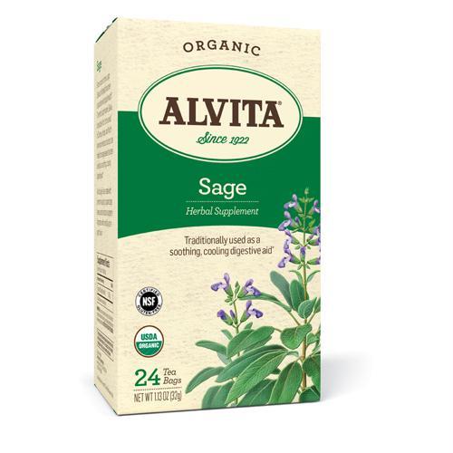 Alvita Teas Sage Tea - Organic - 24 Tea Bags - 1258383