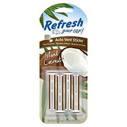 American Covers Handstands 09567 Vent Sticks Island Coconut Scent Pack of 4