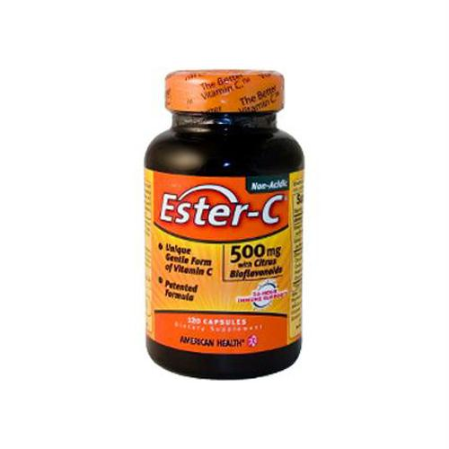 American Health 888032 American Health Ester-C with Citrus Bioflavonoids - 500 mg - 120 Capsules