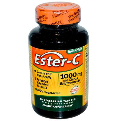 American Health 888453 American Health Ester-C with Citrus Bioflavonoids - 1000 mg - 90 Vegetarian Tablets