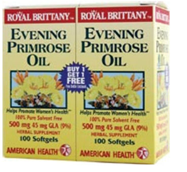 American Health Royal Brittany Evening Primrose Oil 500 mg 100 softgels twin pack buy one get one free 23615