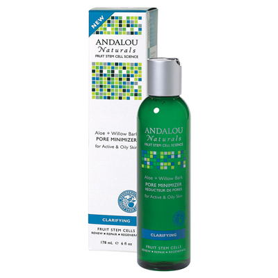 Andalou Naturals 1162627 Clarifying Aloe plus Willow Bark Pore Minimizer - 6 fl oz