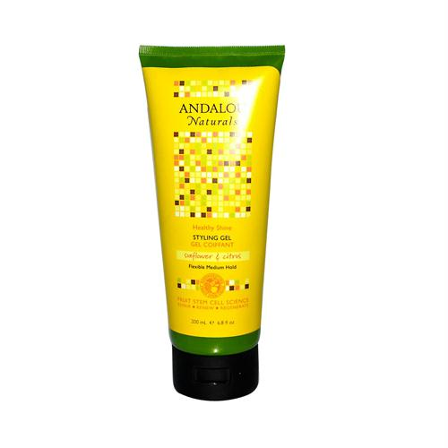Andalou Naturals 785238 Andalou Naturals Medium Hold Styling Gel Sunflower and Citrus - 6.8 fl oz