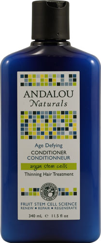 Andalou Naturals Conditioner Age Defying Argan Stem Cells Thinning Hair Treatment 11.5 Oz