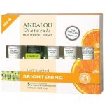 Andalou Naturals Skin Care Essentials Kit, Brightening, For Normal & Combination Skin, 5Pc