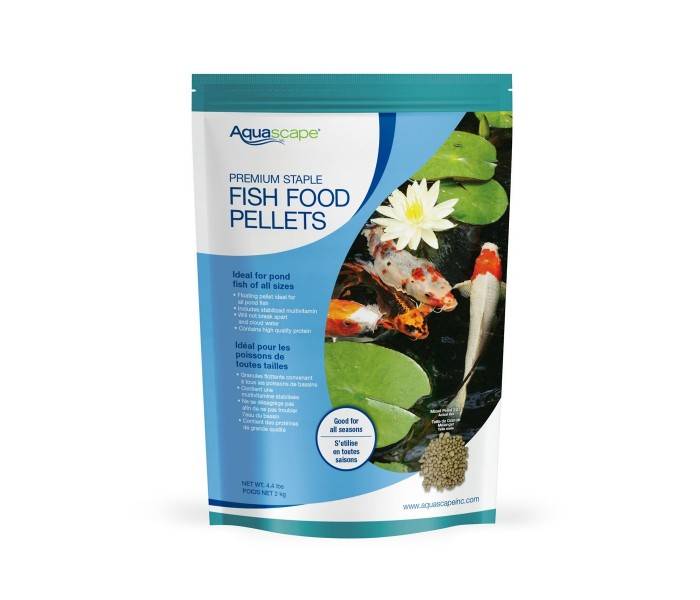 Aquascape 81052 Premium Staple Fish Food Mixed Pellets - 2 kg.