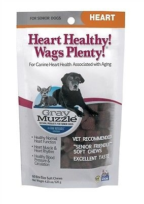 Ark Naturals 632634710026 Gray Muzzle Heart Healthy Wags Plenty New with Seal