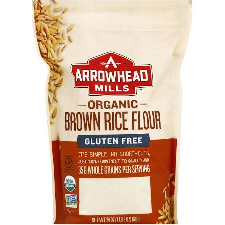 Arrowhead Mills 1839588 24 oz Gluten Free Organic Brown Rice Flour - Case of 6