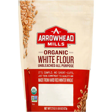 Arrowhead Mills 1839679 22 oz Organic Enriched Unbleached White Flour - Case of 6