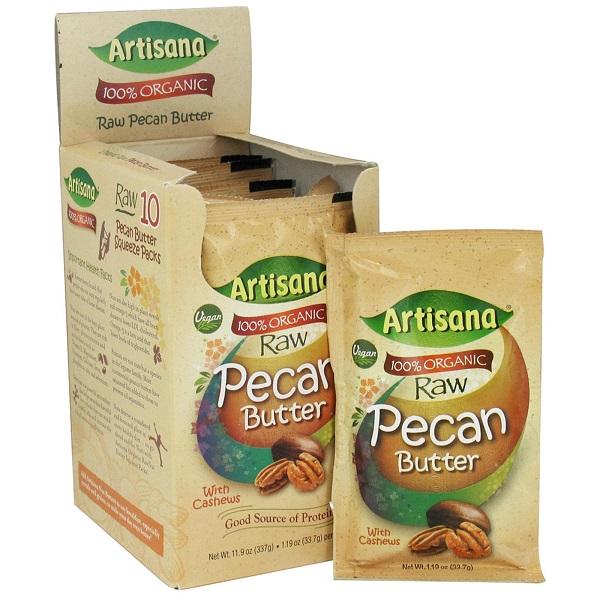 Artisana BCA51522 1.06 oz Og2 Art Pecan Butter Squeeze pack - Pack of 10