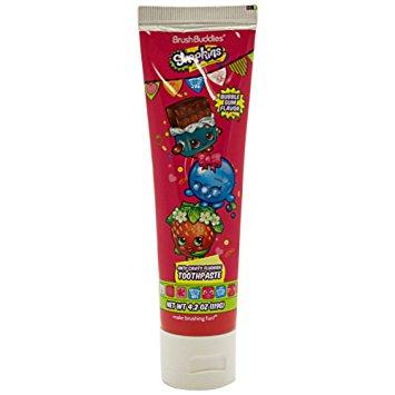Ashtel Studios 00677-24 Brush Buddies Shopkins Bubble Gum Toothpaste - Pack of 10