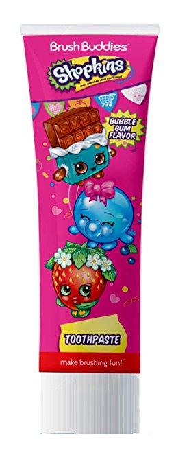 Ashtel Studios 00679-24 Brush Buddies Shopkins Bubble Gum Travel Toothpaste - Pack of 10