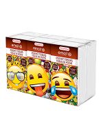 Ashtel Studios 00693-24 Emoji 6 Pocket Tissue - Pack of 10