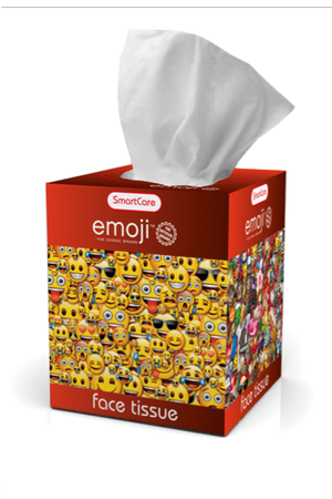 Ashtel Studios 00694-24 Brush Buddies Emoji Box Tissue - Pack of 10