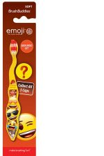 Ashtel Studios 00696-24 Brush Buddies Emoji 1 Pack Toothbrush with Cap - Pack of 10