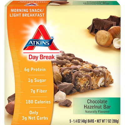 Atkins 1087881 Day Break Bar Chocolate Hazelnut - 5 Bars