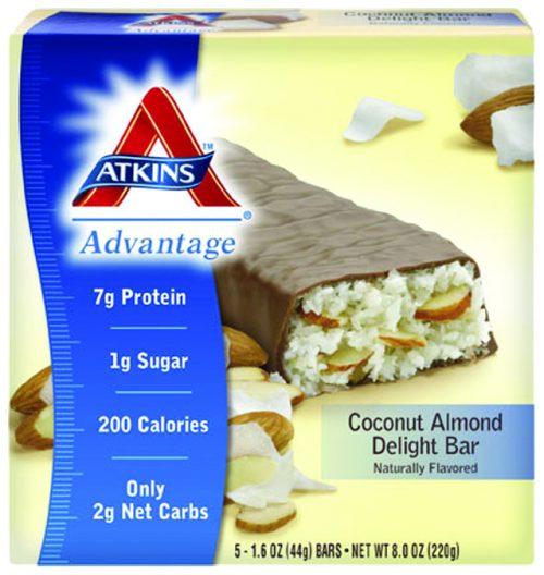 Atkins Nutritionals 3102525 Coconut Almond Delight - 5 per Box